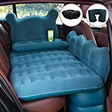 hikotor Car Inflatable Air Mattress Back Seat Pump Portable Travel Camping Sleep Pad Cushion Bed fits Universal SUV Truck Minivan | Compact Twin Size
