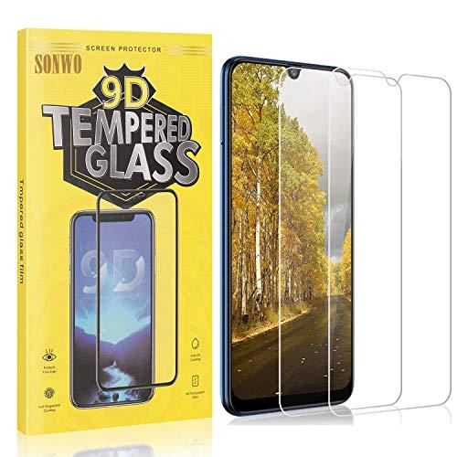 2 Stück Displayschutzfolie Kompatibel mit Galaxy M31, SONWO Panzerglas Schutzfolie für Samsung Galaxy M31, Gehärtetes Glas Schutzfolie