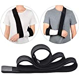 FEIGO Cabestrillo para brazo eslinga, Soportes de Brazos, Cabestrillo para el Brazo Ajustable para Lesionado Brazo/Mano/Codo - 175cm - Negro