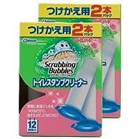 【まとめ買い】 スクラビングバブル トイレ洗浄剤 トイレスタンプ フローラルハーブの香り 付替用(2本入り×2箱) 4本セット 24スタンプ分