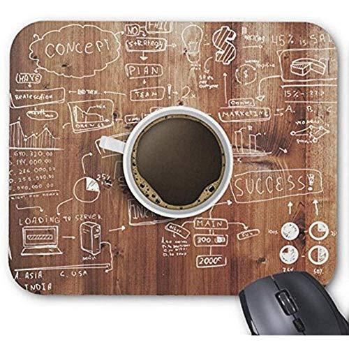 Mousepad koffie op het werk Detail afdrukken muismat
