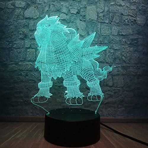 3D Led Night Lights Juego Pokemon Go Personajes De Acción Lámpara De Mesa Pikachu Eevee Dragon Pokeball Ball Bulbasaur Bay Función Decoración Del Hogar