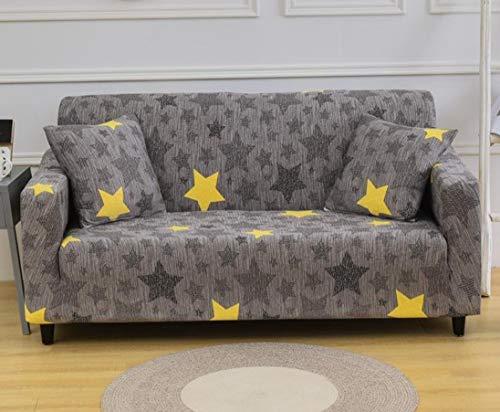 AZZXZONa Sofabezug Gelbbrauner Stern Stretch Stoff Waschbarer Stuhl Loveseat Couch Sofa Universal Sofa Schonbezug Anti-Mite Möbelbezug Protector 4-Sitzer: 225-290Cm