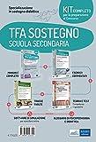 Kit completo TFA sostegno scuola secondaria. Eserciziari-Manuale-Tracce svolte. Con Glossario di Psicopedagogia e didattica. Con software