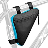 BOBILIFE Bike Triangle Frame Bag - Bicycle Cycling Storage Triangle Top Tube Front Pouch Saddle Bag for Road and Mountain Bikes (Blue)