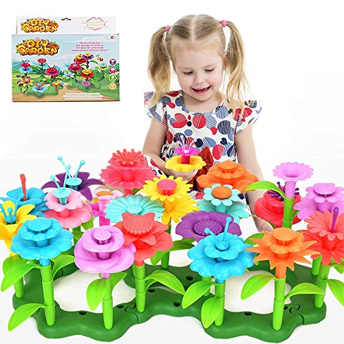 BLAZOR Flower Garden Building Toys, Pretend Garden Toys Gardening Gift for Kids, DIY Bouquet Sets Educational Toys for Educational Toy Creative Playset for Age 4,5,6,7,8,9,10-Year-Old Gifts (110PCS)