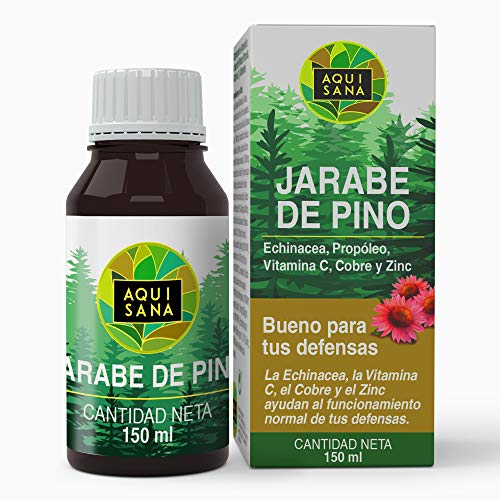 AQUISANA Kiefernsirup mit Echinacea, Propolis, Vitaminen, Mineralstoffen und Eukalyptus - 150 ml
