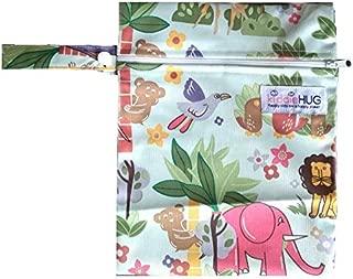 Kiddiehug On-The-Go Waterproof Wetfree Diaper Bag Mini for Travel - Jungle Book