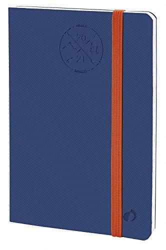 Quo Vadis 147002Q AGENDA SCOLASTICA Anno 2020-2021 AFFARI 16 MESI Multilingua Everest denim con elastico 10x15 Settimanale SETTEMBRE-DICEMBRE, blu