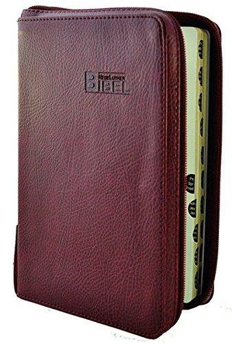 NeueLuther Bibel: Luther 2009 - Softcover Kunstleder bordeauxrot - Goldschnitt, Griffregister, Reißverschluss