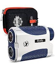 Bozily afstandsmeter golfjacht 1500 yards/meter laserafstandsmeter 6x vergroting, aan/uit tilt, flag-lock met vibratie, ondersteuning voor continu scannen, met batterij, voor professionele golfers