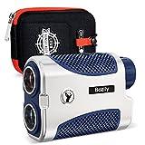 Bozily Entfernungsmesser Golf Jagd 1500 Y/M Laser Rangefinder 6X Vergrößerung, EIN/Aus-Neigung, Flag-Lock mit Vibration, Unterstützung kontinuierlichen Scan, mit Batterie, für Professionelle Golfer