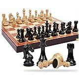 Xywh Tablero de ajedrez Profesional Traje de Alta Gama de ajedrez Extra Grande sólido Tablero de ajedrez Plegable de Madera de la decoración de Piezas de ajedrez de Metal casa Juego de Damas