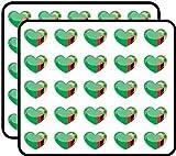 Pegatinas de vinilo con diseño de bandera de Zambia para niños, para manualidades, álbumes de recortes, ordenador portátil, parachoques de coche, pegatinas para niños, 50 unidades