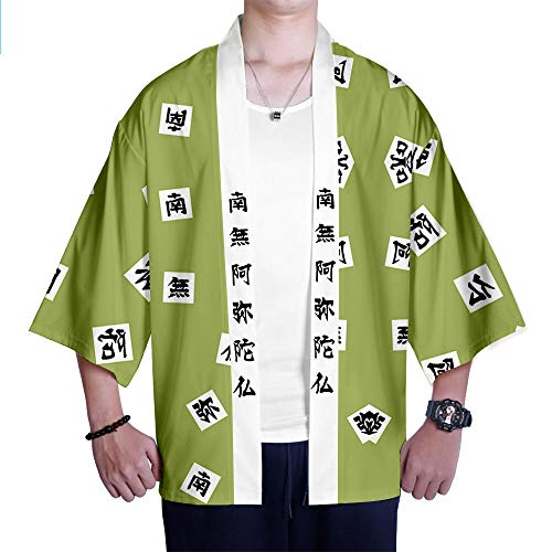 Tops Demon Slayer Kimetsu No Yaiba Tanjiro Kamado Tomioka Giyuu Cosplay Disfraz Hombres Mujeres Crdigan Kimono Japons