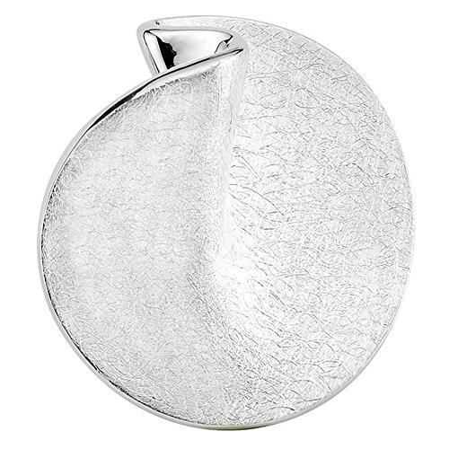 Vinani Design Anhänger Kreis rund elegant gebürstet Sterling Silber 925 2ARG-EZ
