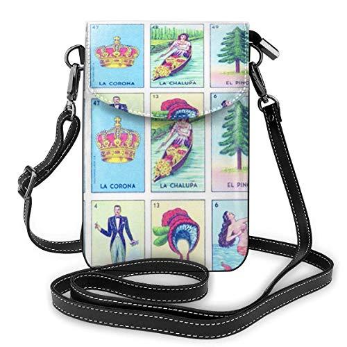 Loteria Small Crossbody Bags Cartera de teléfono celular para mujer