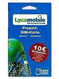 Lyca Mobile Lycamobile - Tarjeta SIM de prepago (incluye saldo de arranque de 7,50 euros)