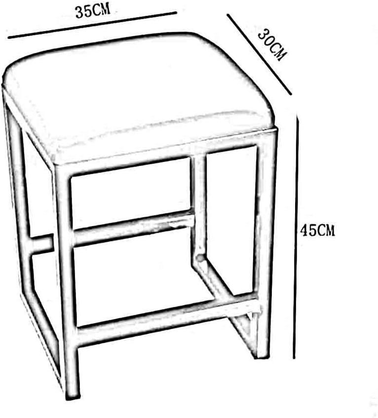 YVX Banc Moderne Minimaliste Classique Repose-Pieds rembourré en PU canapé Tabouret Chaise de Salle à Manger sans Dossier (Couleur: Noir, Taille: 30 cm) White