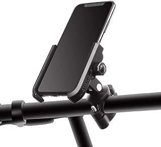 マルゼン バイクスマホホルダー 固定力抜群 アルミ製 無遮蔽設計 自由に撮影でき 自転車ホルダー 多機種対応 取り付け簡単 スマホ固定用マウント (ブラック)