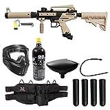 Maddog Tippmann Cronus Tactical Silver Paintball Gun Package - Black/Tan