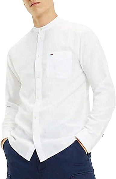 Tommy Hilfiger TJM Mao Linen Shirt Camisa para Hombre