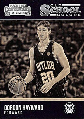 Gordon Hayward basketball card (Butler Bulldogs University Boston Celtics Star) 2015 Contenders Draft Picks #47 Old School