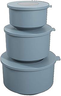 مجموعة كوزا هوب - حاوية طعام مانعة للتسرب مع أغطية محكمة الغلق الهواء، مجموعة من 3 قطع (إجمالي 6 قطع)، خالية من البيسفينول...