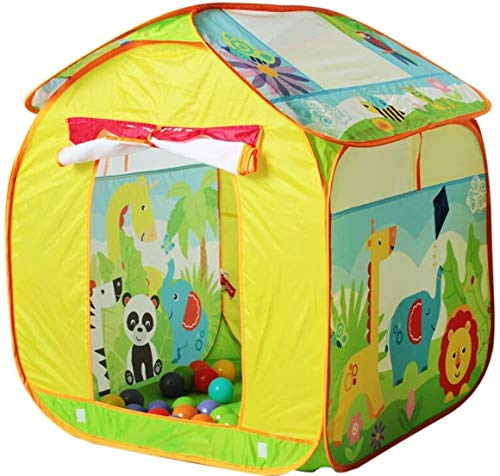 LAZ Children Play Tent Indoor Folding Game House Outdoor Large House Tourism (Color : Yellow)