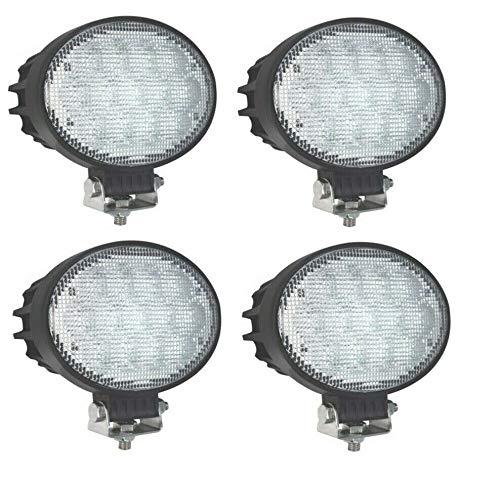 4x 65W Arbeitsscheinwerfer Lampe Oval Arbeitslicht 5Wx13LEDs Weiß IP67 LED ATV UTV LKW PKW Anhänger Traktor Bager Gabelstapler Grabenbager Wohnwagen Quad Träger
