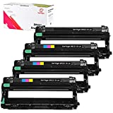 UniVirgin 4-Color DR221 Drum Sets Replacement for Brother DR221 DR-221CL DR221CL Drum Unit Fits for: Brother HL-3140CW HL-3170CDW MFC-9130CW MFC-9330CDW MFC-9340CDW Printers (4pk Drum - BCMY)