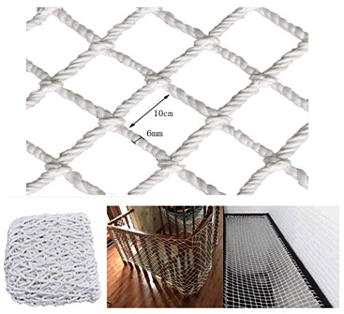 Child Stair Protection Net Veiligheid touw net wit, Indoor kinderen trappen balkon anti-val net Outdoor raam plafond ophanging brug net Tuin hek net Klimnet Hangmat swing Mesh 10CM (siz