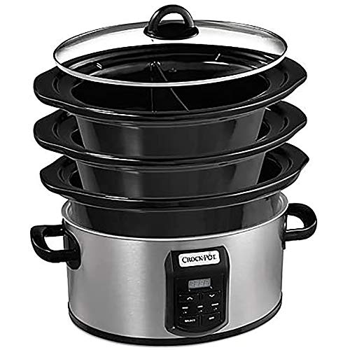 Crock-pot SCCPVS642-S Choose-A-Crock Programmable Slow Cooker, 6 quart/4 quart/2 x 1.5 quart, Silver