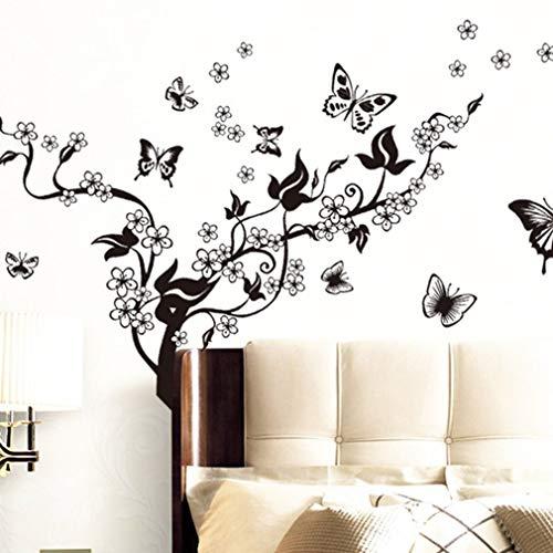 Vlinders vliegen patroon kamer Sofa TV achtergrond muur Sticker Home Decora prachtig ontworpen duurzaam GorgeousBlack