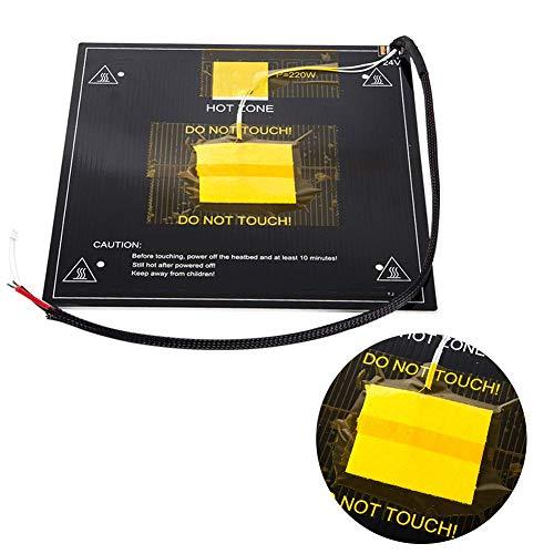 3D Imprimante Hot Lit Plaque Remplacement Pièce, Dc 24V Aluminium Heatbed Hot Lit Plateforme avec Chauffé Lit Câble Ligne pour Ender 3 / Ender 3 Pro 3D Imprimantes - 235x235mm