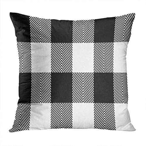 Pamela Hill Throw Pillow Decor Square 20 x 20 Inch Buffalo Plaid Lumberjack Gingham Tartan Super Soft Funda de cojín Decorativo