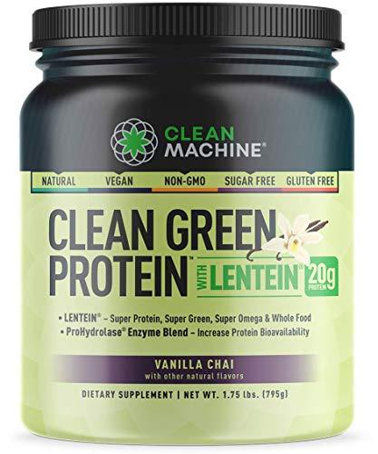 Clean Machine Clean Green Protein with Lentein - Vanilla