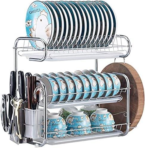 Racks Challenge the lowest price of Japan Storage Oklahoma City Mall Metal Three-layer Drain Kitchen Rack Dish