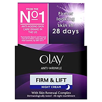 Olay Anti-Wrinkle Firm and Lift Anti-Ageing Moisturiser Night Cream, 50 ml from Procter & Gamble
