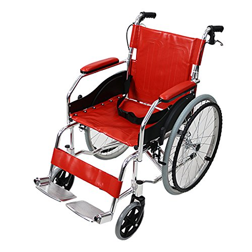 車椅子 アルミ合金製 赤 約11kg TAISコード取得済 軽量 折り畳み 自走介助兼用 介助ブレーキ付き 携帯バッグ付き ノーパンクタイヤ 自走用車椅子 自走式車椅子 折りたたみ コンパクト 自走用 介助用 自走式 自走 介助 車椅子 車イス 車いす レ
