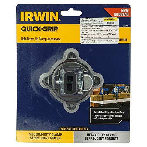 Irwin 1988932Quick-Halten Sie Jig Einhandzwinge Schraubzwinge Accessory–Schwarz & Blau (1)