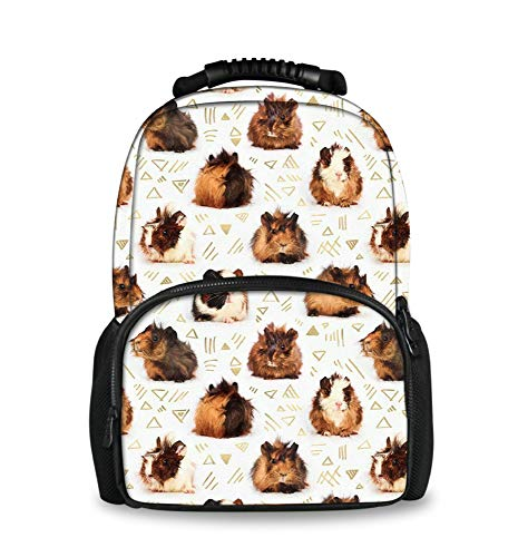 Lightweight Backpack for School Business Travel, Guinea Pigs Bag for Men Women Kids Youth, Large Capacity Daypack with Bottle Side Pockets