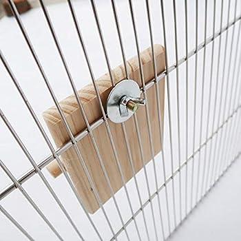 Hangarone Oiseau Cage Accessoire Jouet, Oiseau Jouet Oiseau Perchoir Stand Bar Oiseau Miroir Perroquet Stand Bâton Balançoire Échelle Oiseau Perche, Adapté À La Plupart des Cages À Oiseaux