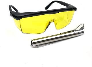 Nikauto Car Air Conditioning UV Protective Leak Detector Kit Test Flashlight Blacklight Penlight UV Protective Glasses Leak Detector Tool for HVAC