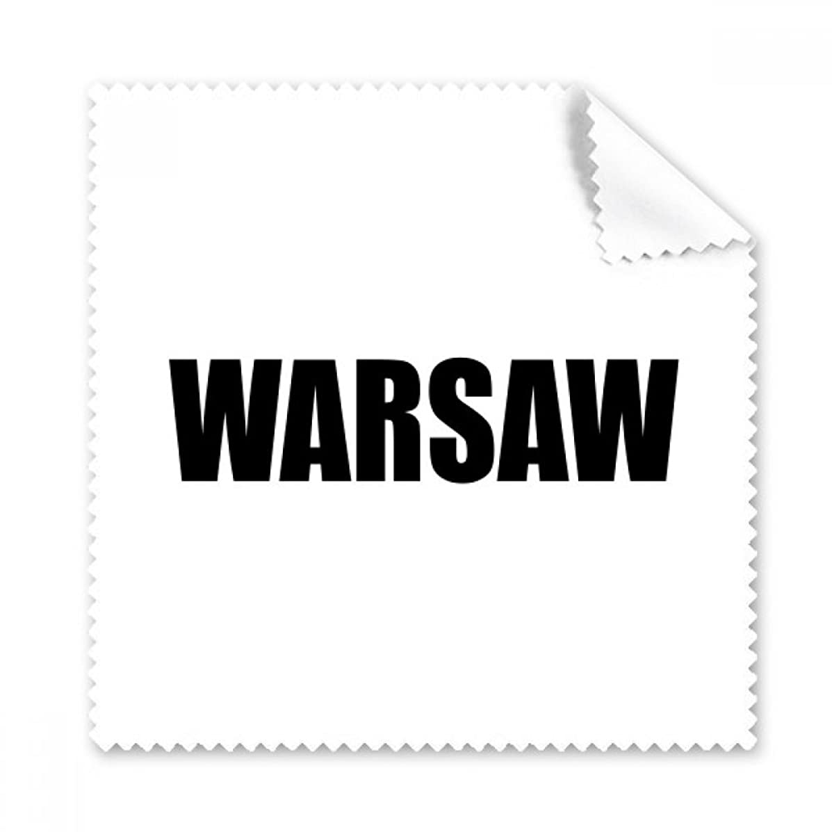 Warsaw Poland City Name Glasses Cloth Cleaning Cloth Phone Screen Cleaner 5pcs Gift