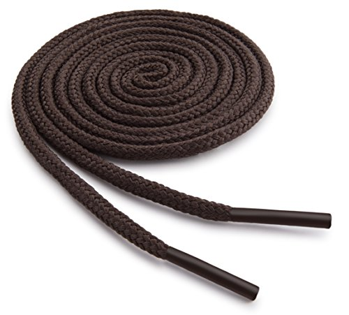 OrthoStep Round Dress Thin Brown 32 inch Shoelaces 2 Pair Pack