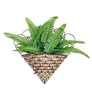 Veston Shop 5 X Artificial Fern Grass Plastic Plant Home Table Arrangement Decor Green – Small Corsages Frond Picks Silk Plants Real Greenery Decor Vine Fern Palm Pieces Home Artificial Gar