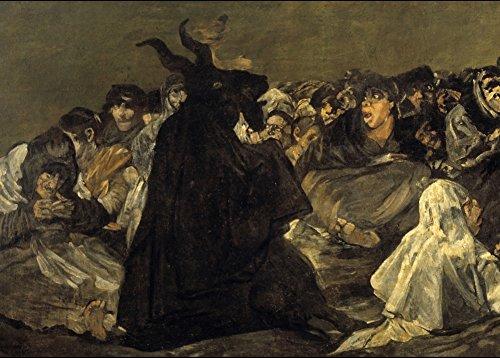 Póster con la reproducción del cuadro de Goya