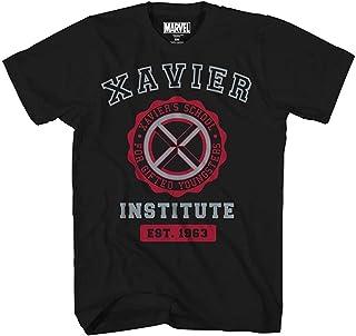 Marvel Avengers X-Men Professor Xavier Institute Logo Fantastic Four X-Force - Camiseta para hombre