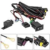 Kit de cableado de luz antiniebla - Kit de cableado de interruptor de luz antiniebla Coche universal de 12 voltios LED Arnés de encendido/apagado de luz antiniebla kit de relé de fusible